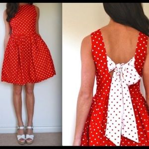 Vintage red and white polka dot dress!
